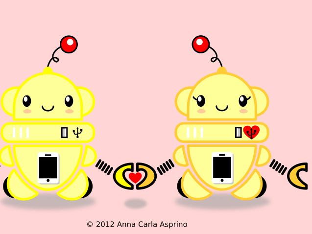 kawaii bots in love