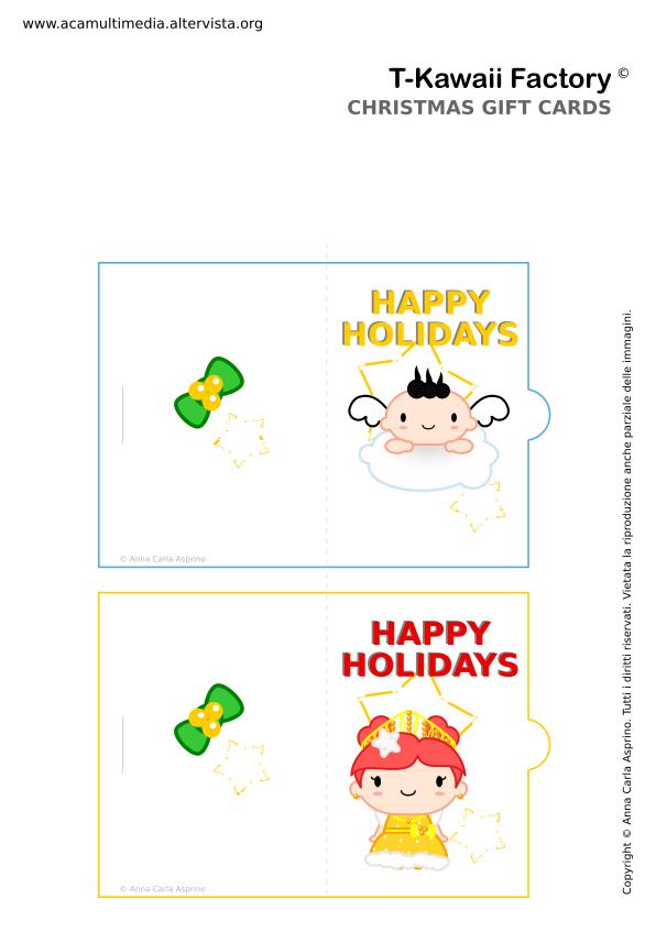 Immagini Natalizie Kawaii.Biglietti Auguri Natalizi Natale Printables T Kawaii Factory